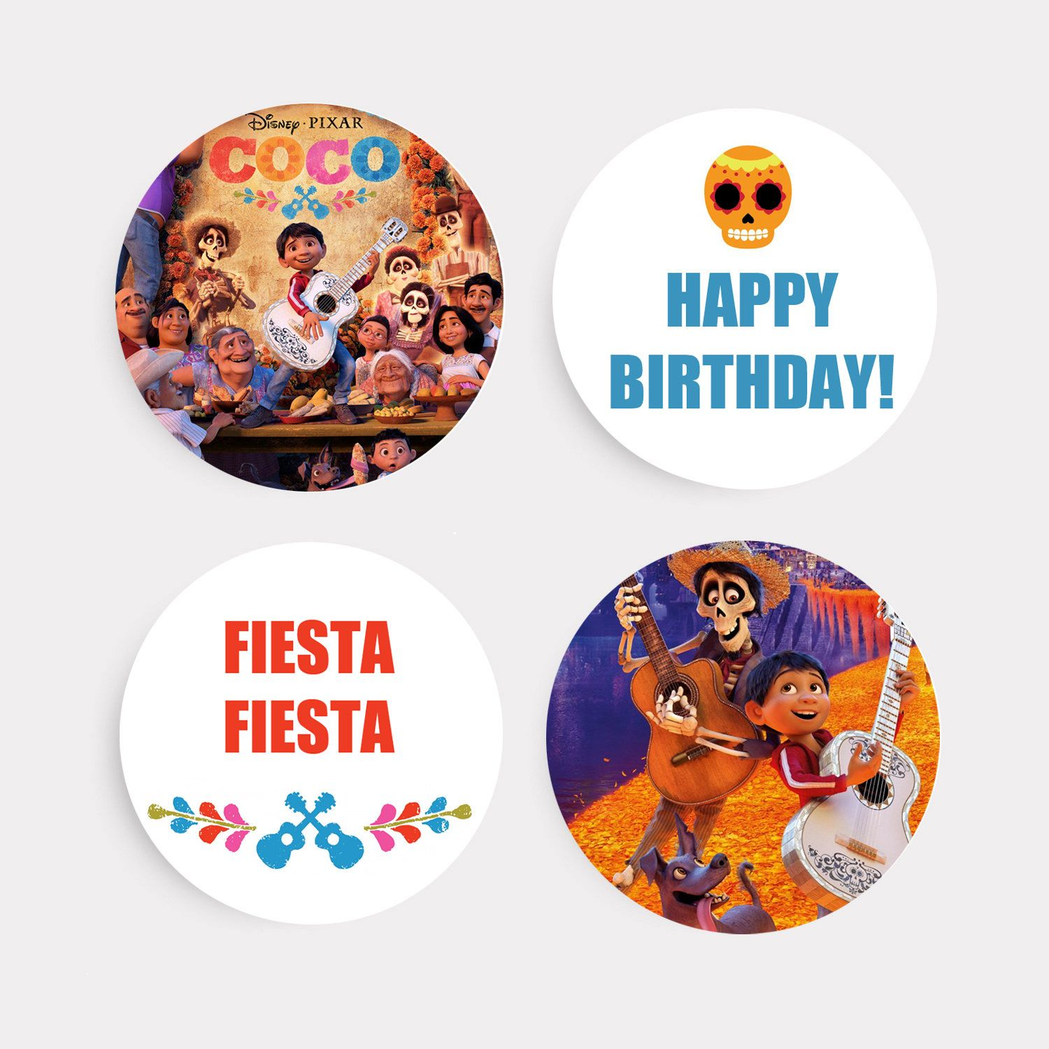 Coco Cupcake Toppers Happy Birthday Cake Toppers Disney