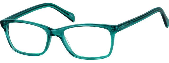 Green Rectangle Eyeglasses #102324   Zenni Optical Eyeglasses ...