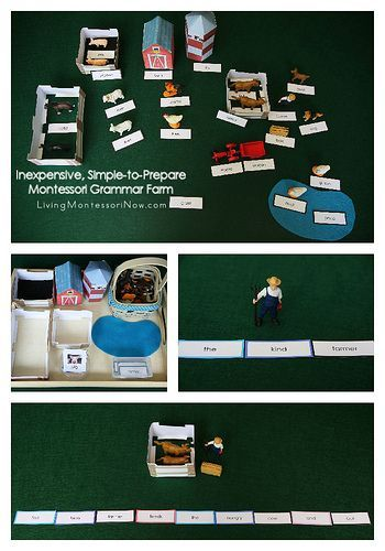 Inexpensive, Simple-to-Prepare Montessori Grammar Farm (options for young preschoolers through elementary-age children)