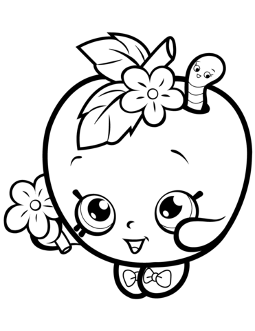 Apple Blossom Shopkin Målarbok | Shopkins coloring pages ...