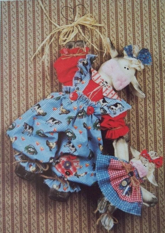 Craft Sewing Pattern Martha Sue and baby cow by LindaHarvey, $3.99