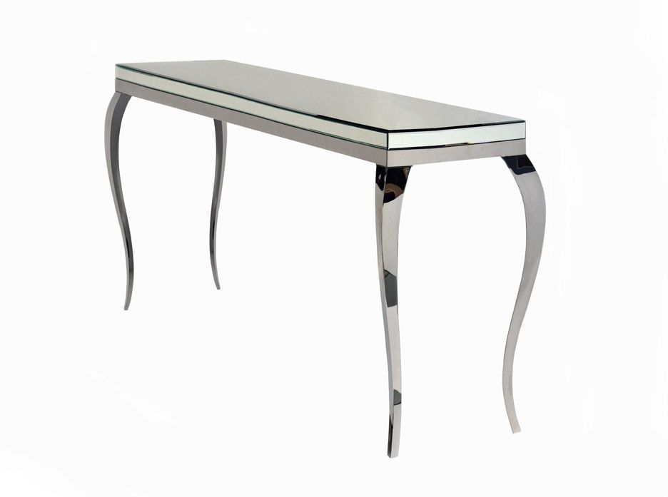 mirror hall table. Scarlette Mirrored Hall Table With Chrome Legs $599 Mirror