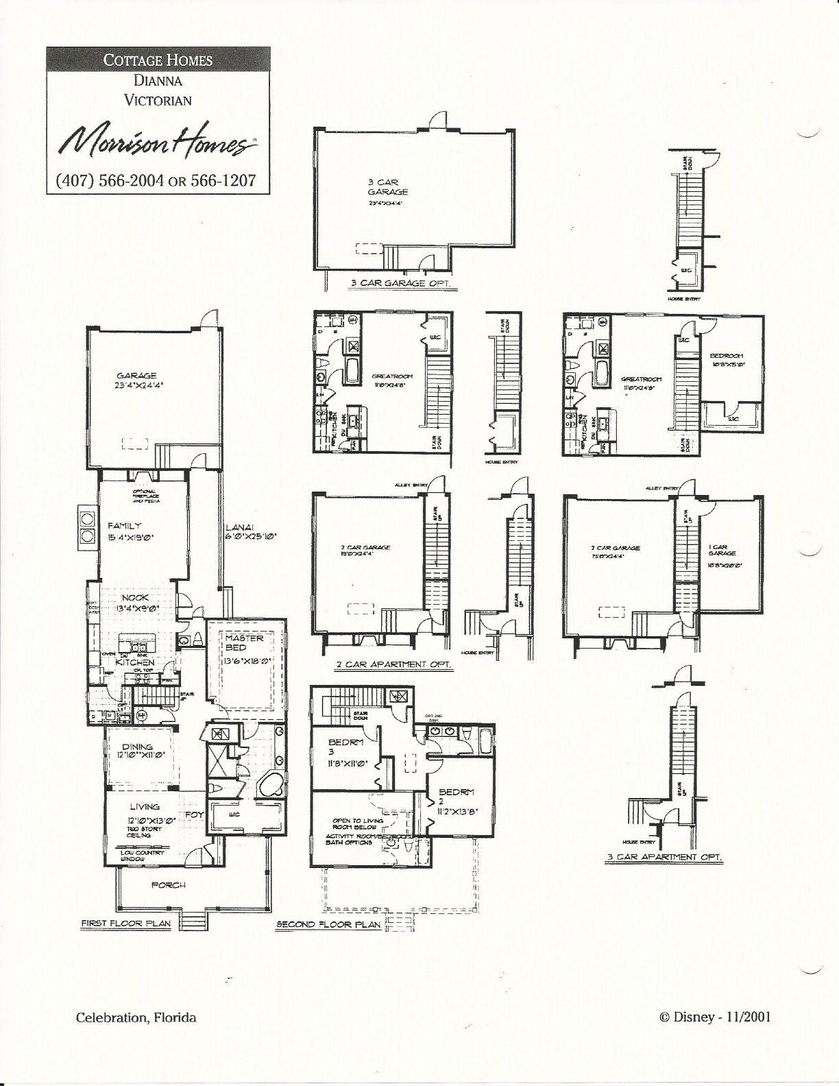 Dianna Victorian Floor Plans In Celebration Fl Floor Plans Morrison Homes Coastal Flooring