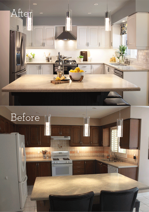 Kitchen Makeovers On A Budget Before And After