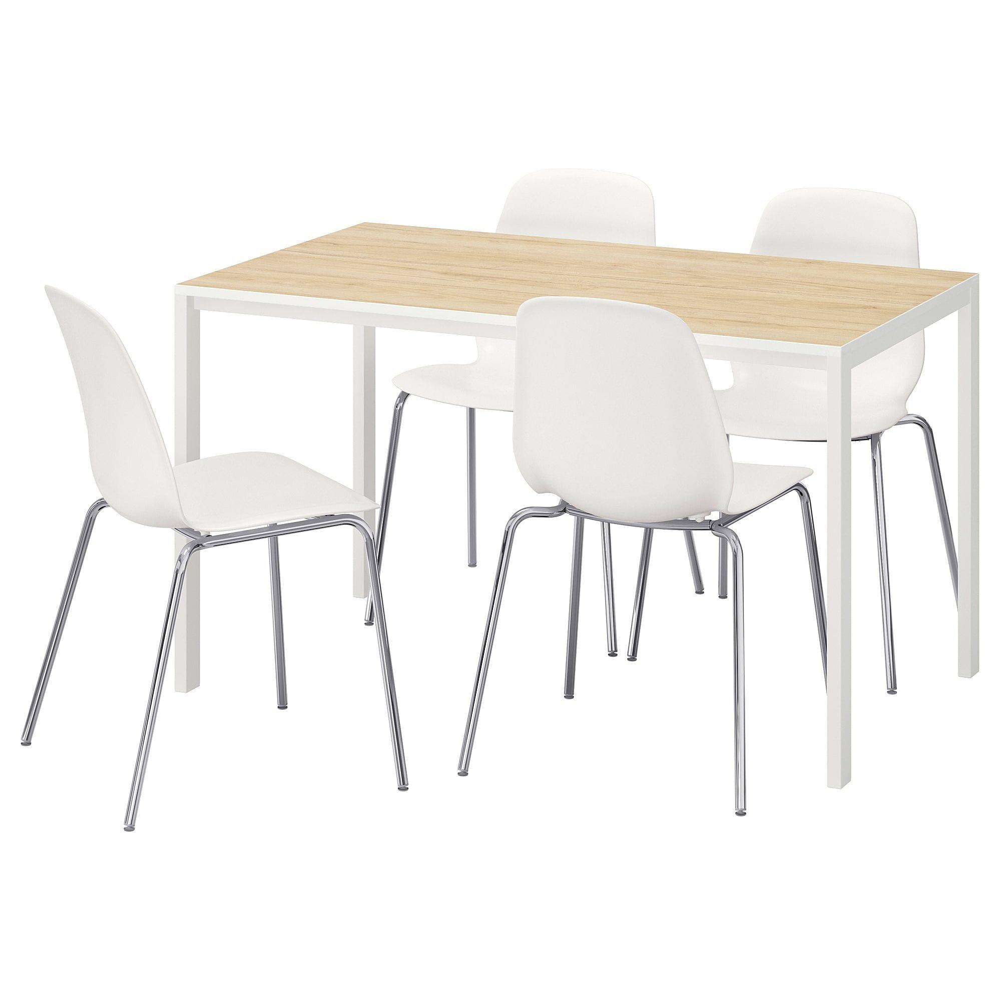 Melltorp Leifarne Tisch Und 4 Stuhle Esche Weiss Broringe