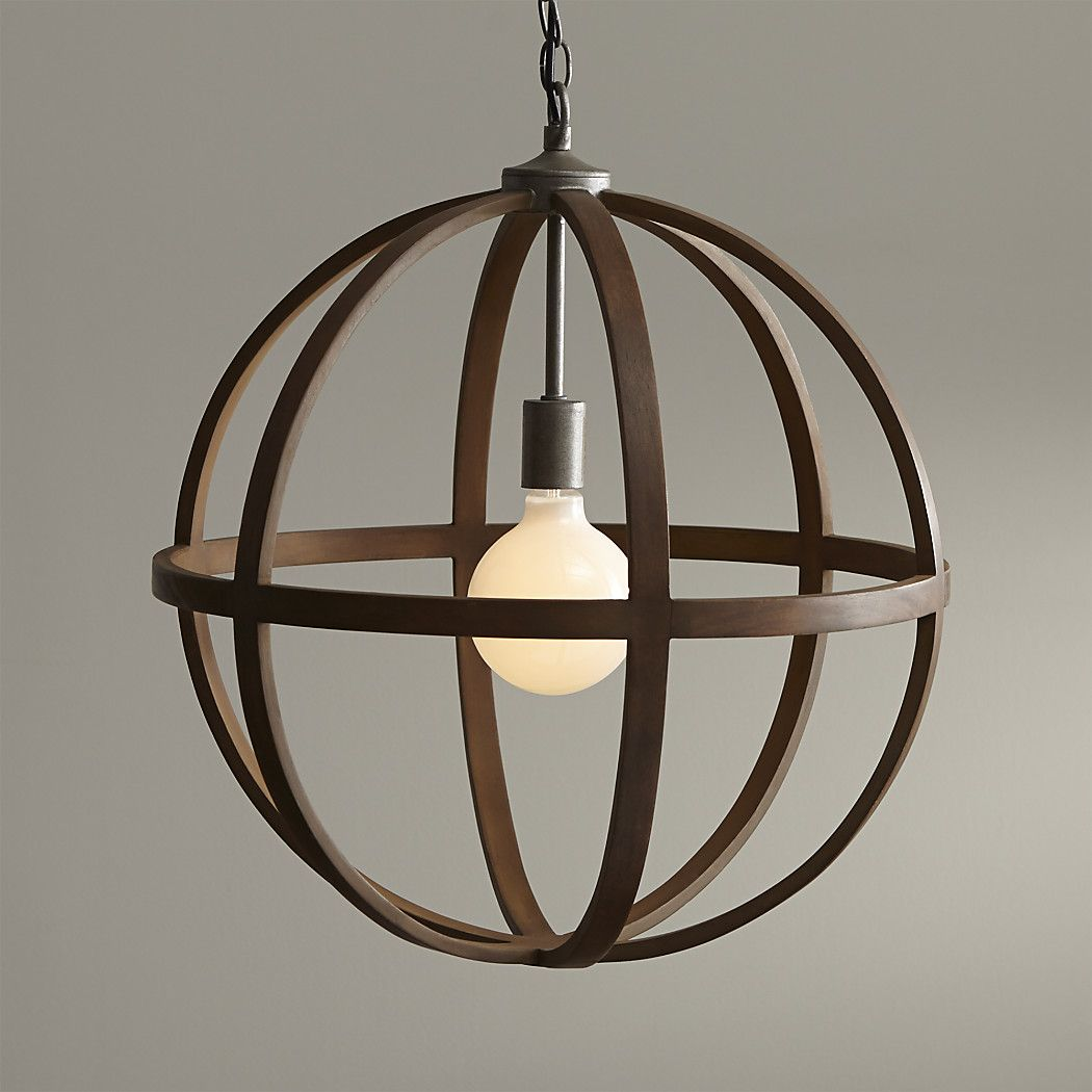 Braden Wood Globe Pendant Reviews Crate And Barrel Pendant Light Wood Pendant Light Pendant Lamp