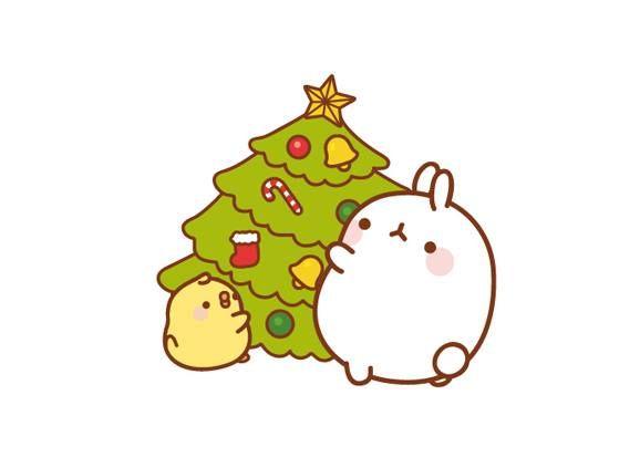 Molang christmas pinteres for Cute tree drawing