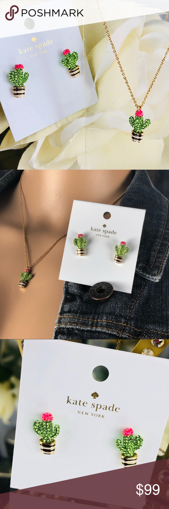 Kate Spade Scenic Route Cactus Earrings Necklace Boutique In 2018