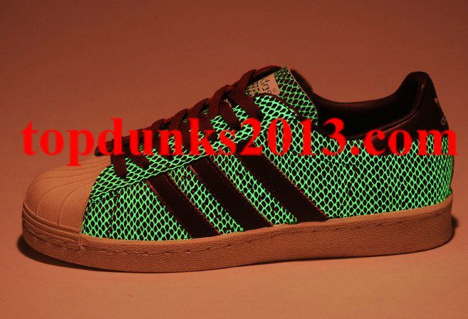 Atmos Glow in The Dark Adidas SUPERSTAR 80s G SNK IV Red Fast Shipping 93163ffe4