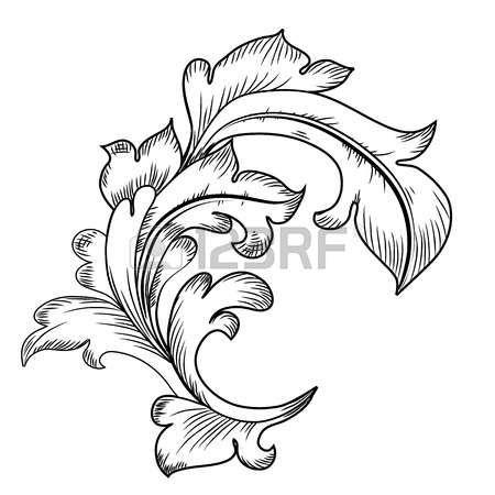 Baroque Design Elements Photo Baroque Design Baroque Ornament Seamless Textures