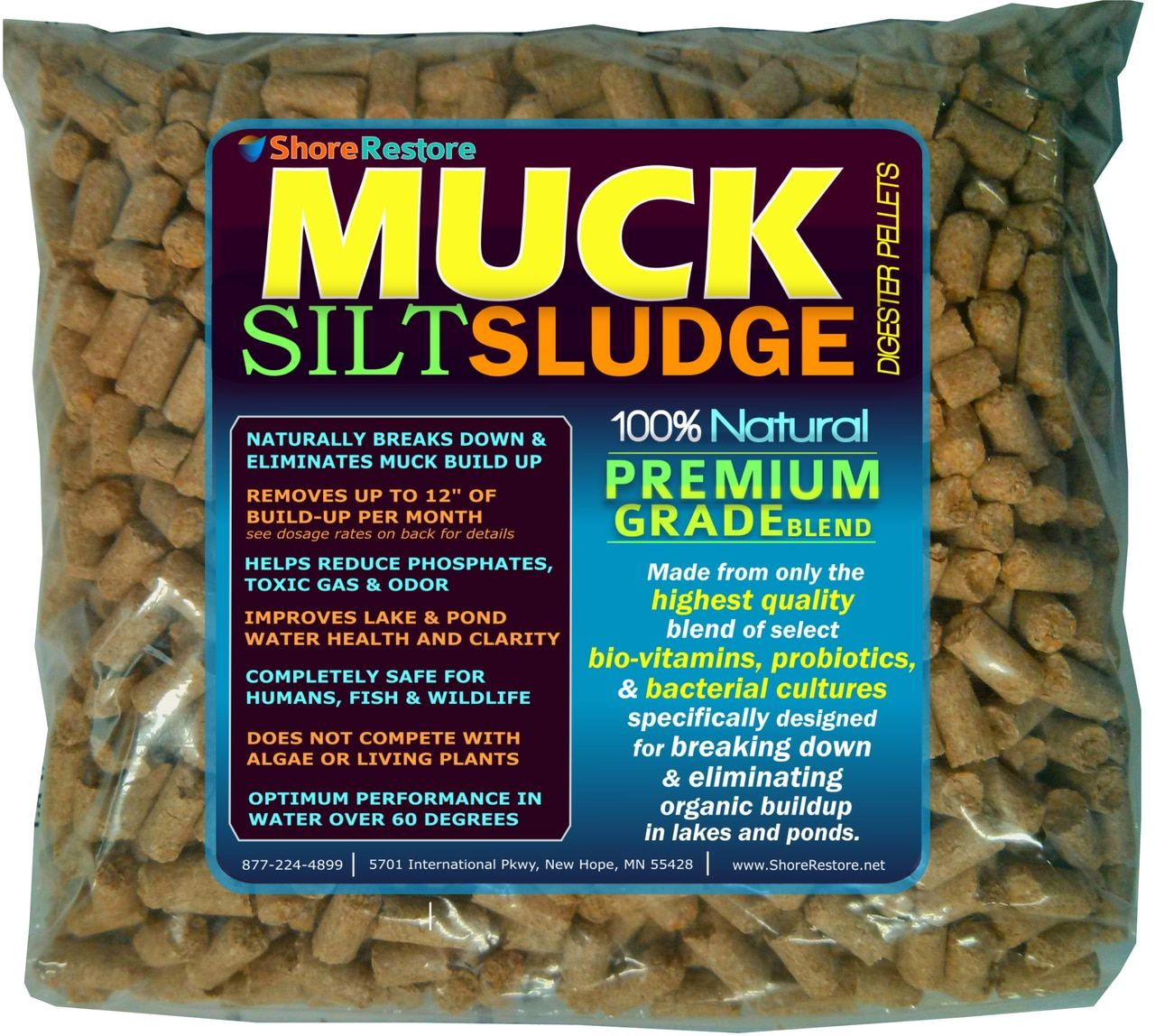 Get rid of lake and pond muck and control bottom sediment
