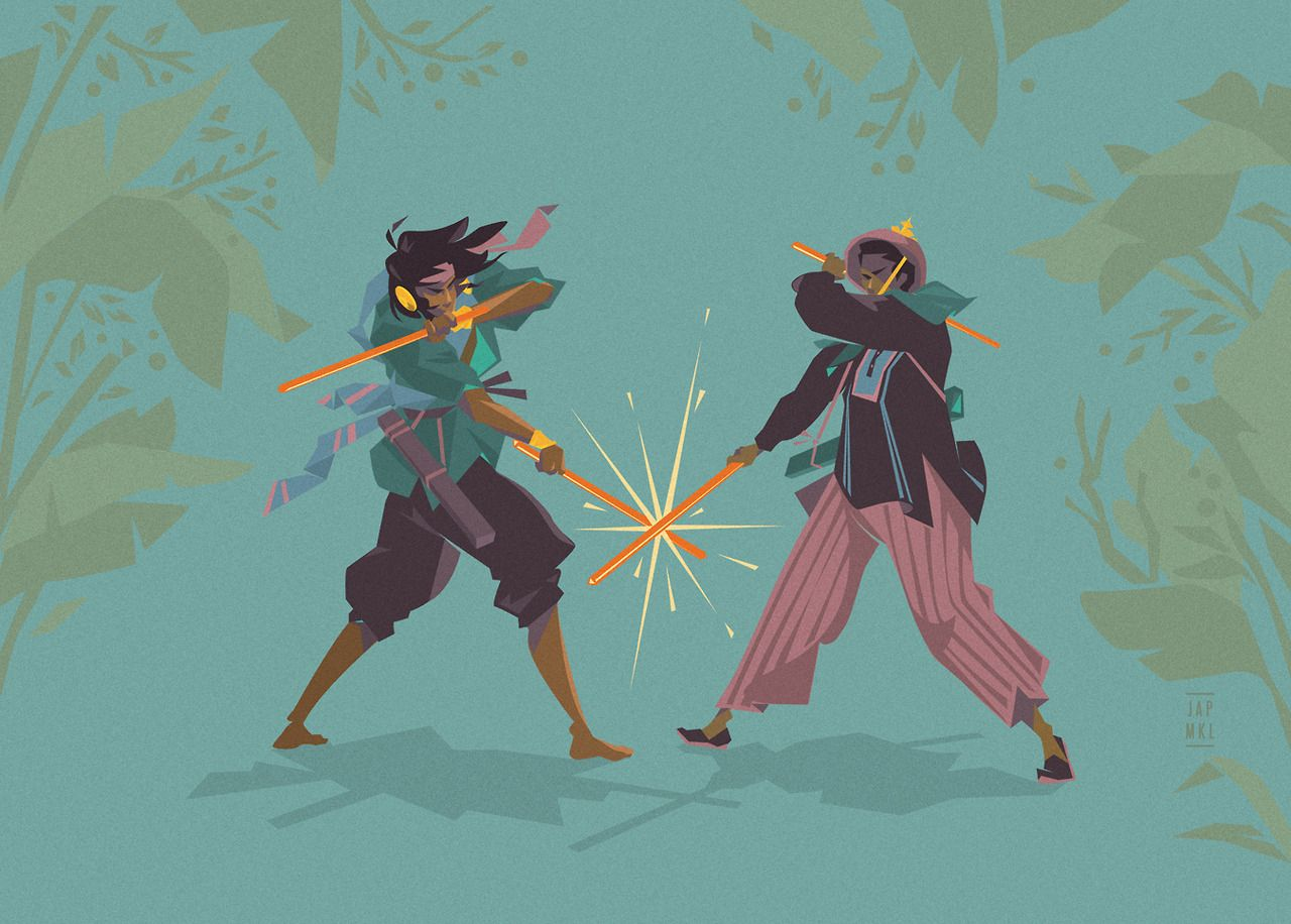 Arnisadores illustration for esquires article about arnis