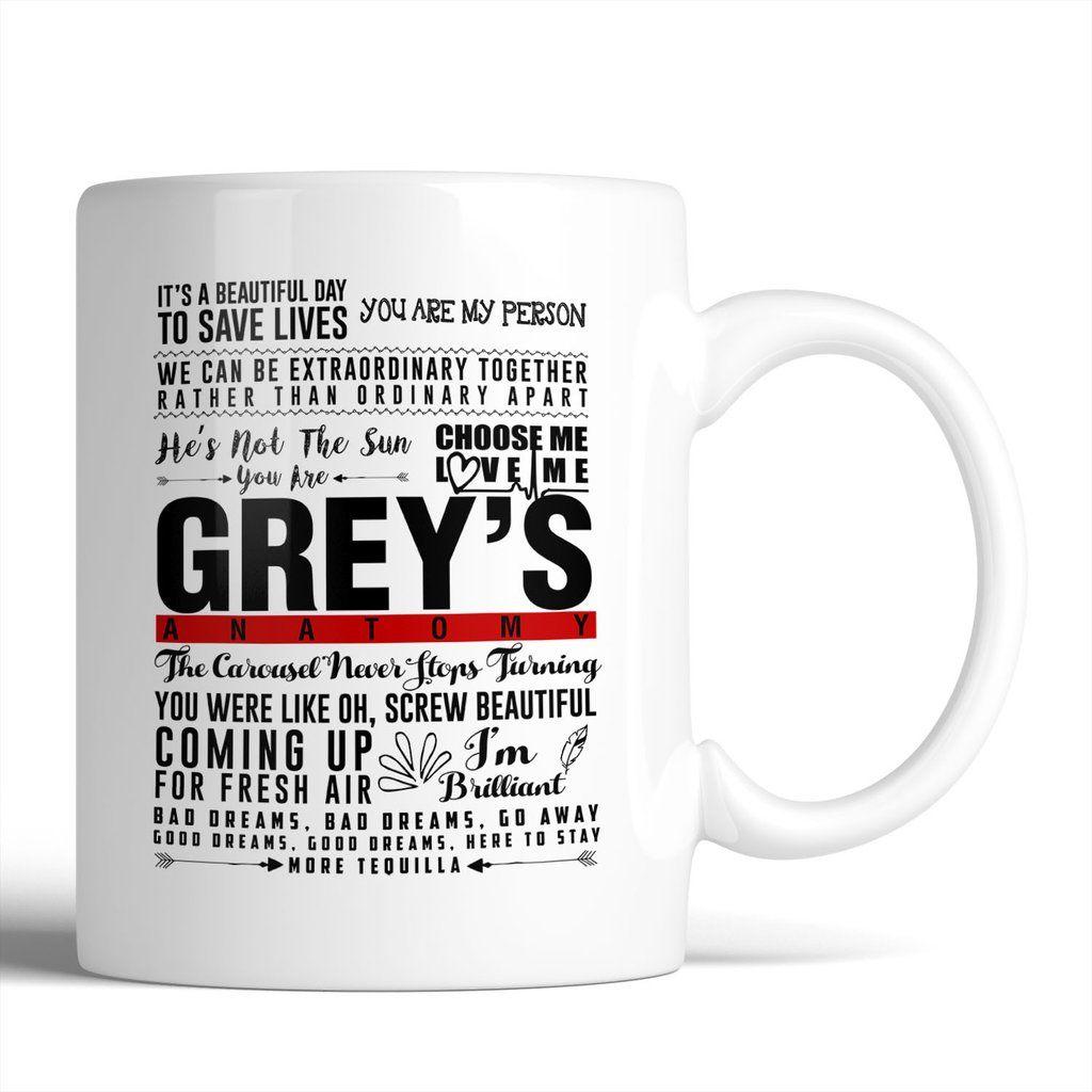 Greys anatomy favorite quotes mug want it grab it