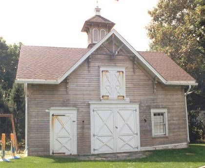 Early victorian carriage house before coloration for Carriage barn plans