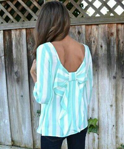 Bow back blouse♥