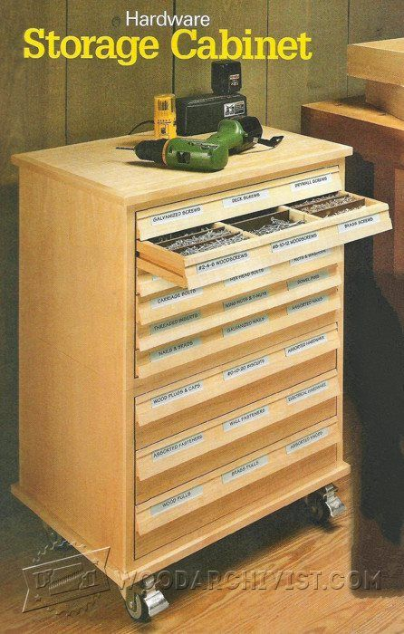 Hardware Storage Cabinet Plans - Workshop Solutions Projects Tips and Tricks | WoodArchivist.com & Hardware Storage Cabinet Plans - Workshop Solutions Projects Tips ...