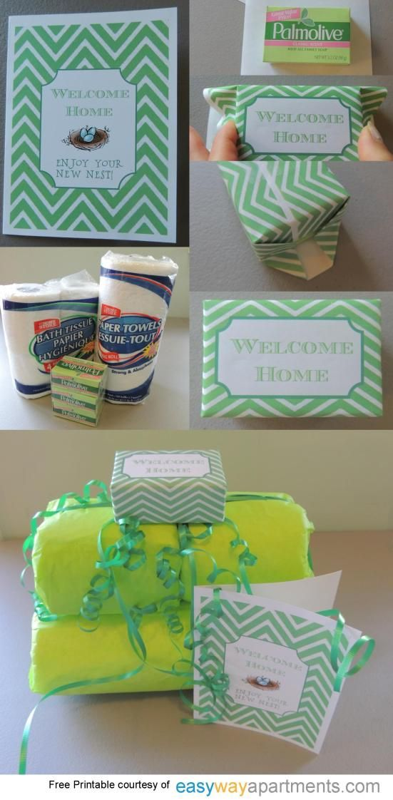 Housewarming Gift Tutorial And Printable Moving Gifts Apartment Gift Welcome Home Gifts