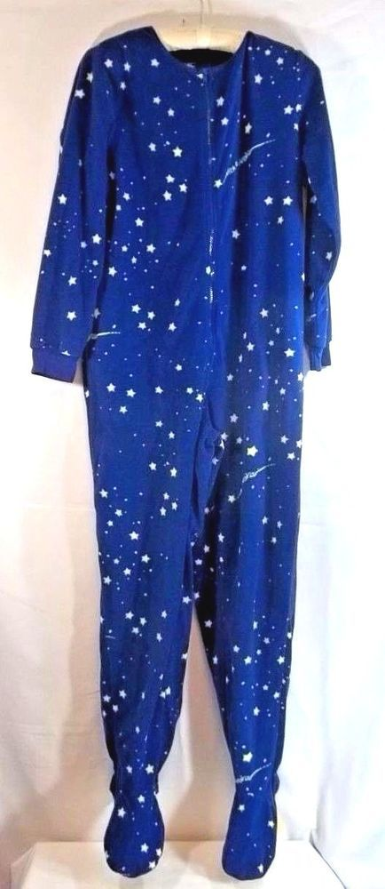 fbf31f5cdffe Nick   Nora Starry Night One Piece Footed Pajamas S Blue
