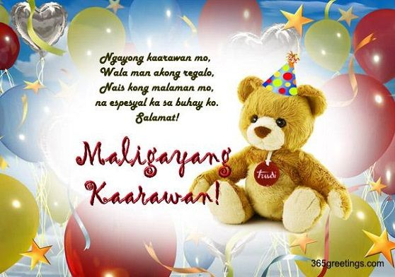 Happy birthday in tagalog pinterest tagalog so you want to greet someone a happy birthday in tagalog keep it heartwarming and inspirational with these happy birthday greetings in tagalog language m4hsunfo