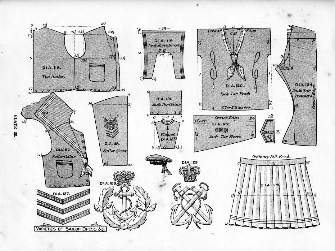 How to sew a sailor suit for a boy with his own hands 92