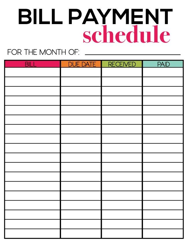 picture relating to Monthly Bills Printable identified as No cost Printables for E-newsletter Subscribers For the House