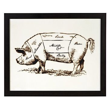 Add a bit of old school style to his gallery wall with our Pig ...