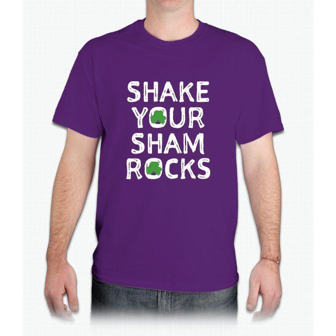 Shake Your Sham Rocks St Patrick Day Shirt - Mens T-Shirt