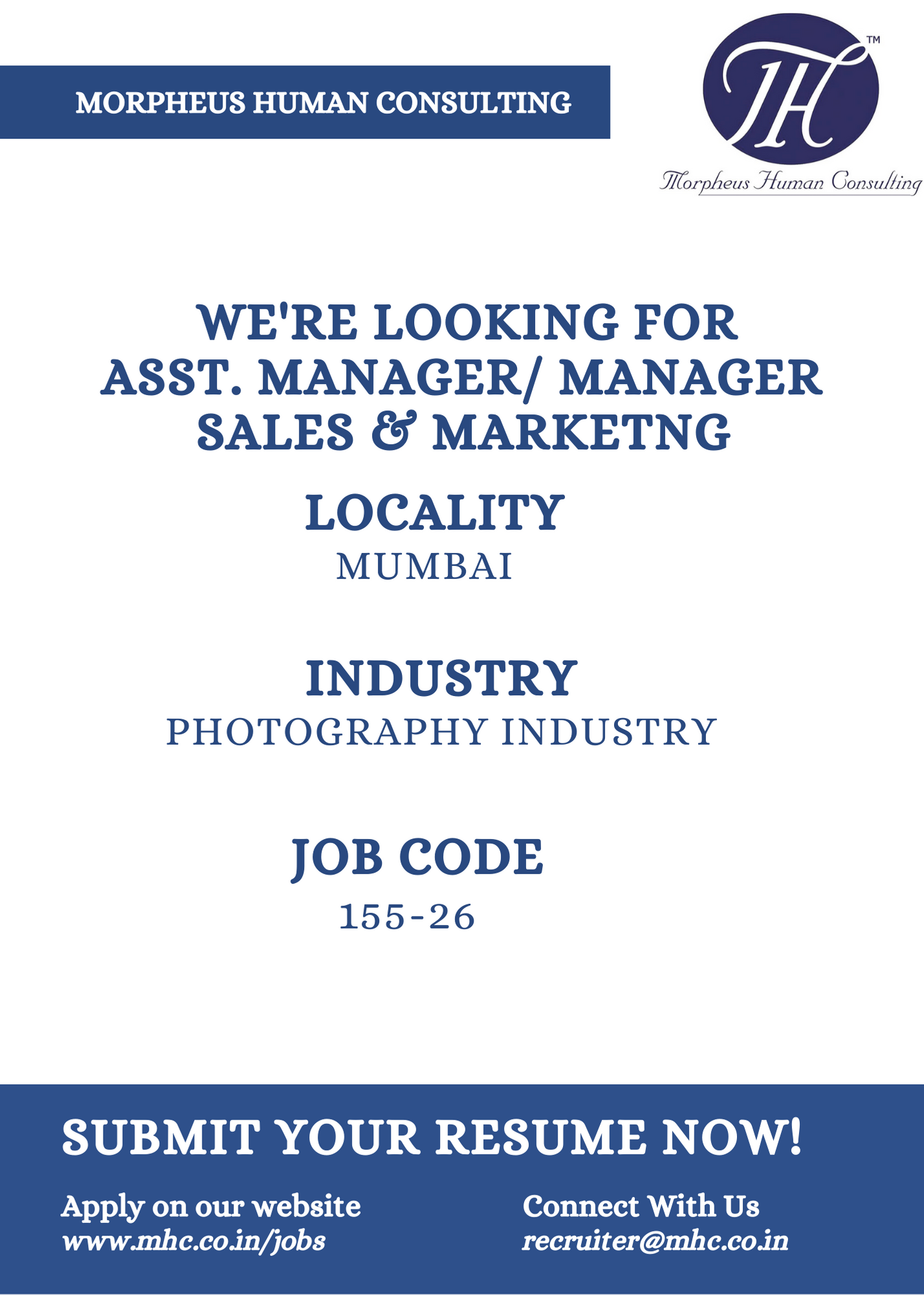 We are looking for a Asst Manager / Manager - Sales & Marketing in Mumbai  for a Leading Photography industry. The… in 2020 | Sales and marketing, Job  posting, Job opening