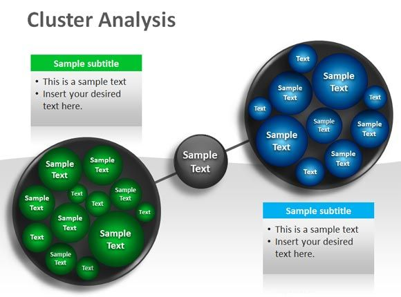 Free Powerpoint Template For Cluster Analysis D Business