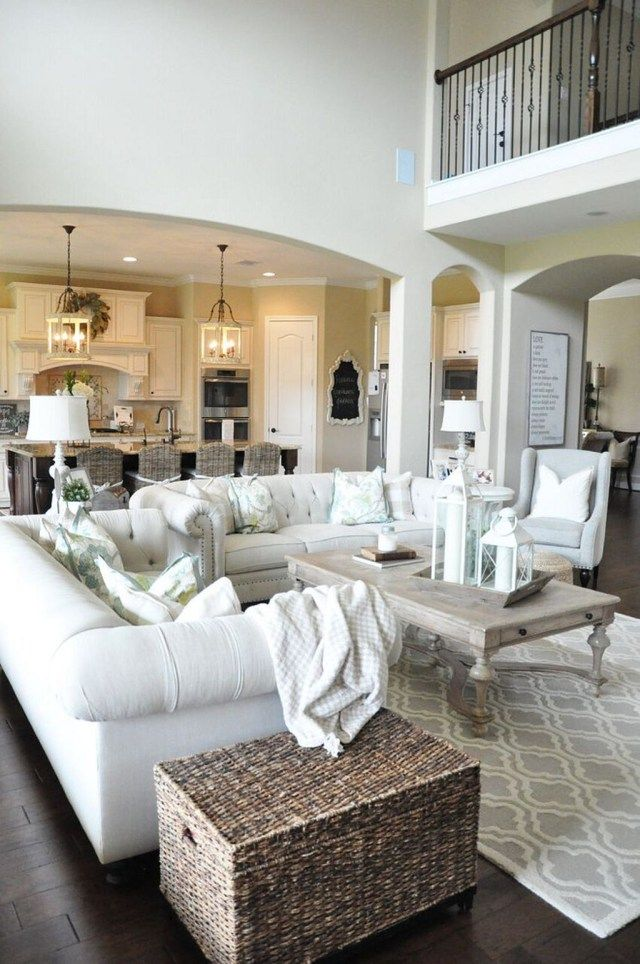 cozy farmhouse living room design ideas you can try at home homedecor also rh pinterest