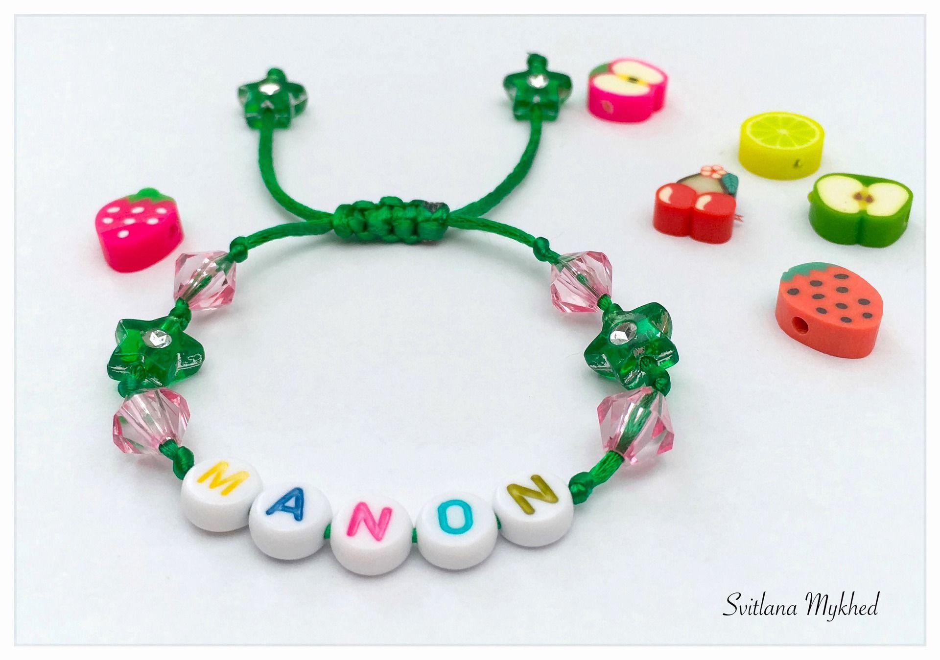 Bracelet perles prénom ou un message personnalisé   bijoux personnalisés    bracelets de bébé de nom   bracelets de perles b07d30b424e7