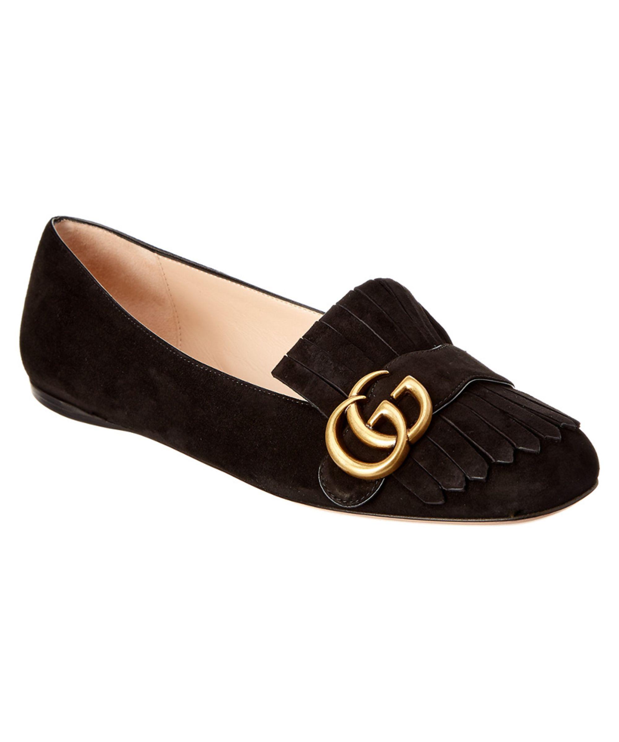 5d30b080e GUCCI | Gucci Suede Ballet Flat #Shoes #Flats #GUCCI | Fashion ...