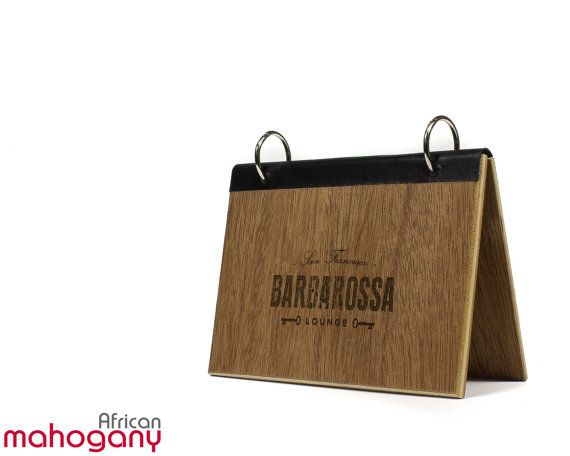 Custom Wood Table Tent With Your Laser Engraved Logo And Flip Top - Wooden table tents
