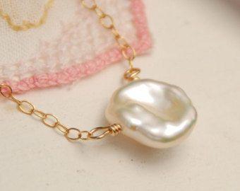Collar de perlas para novia Dama de honor collar nupcial de