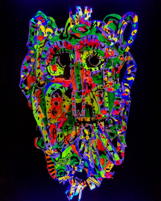 Mexican paper mache vintage judas sculpture folk art at 1stdibs - M Scara Chichimeca Psicod Lica Jazzamoart En Arte Sano 4 0 En Mapmuseo Folk Art
