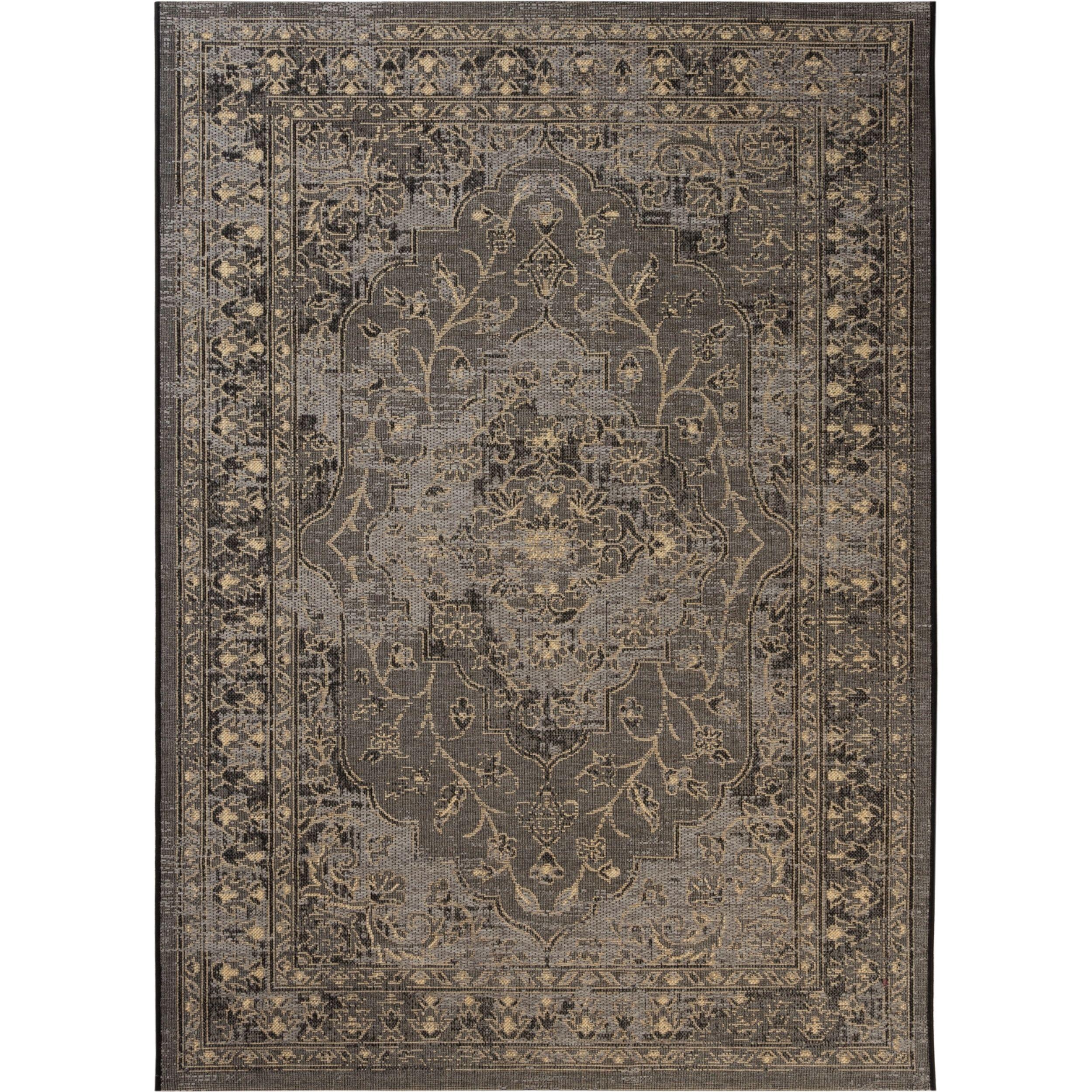 Safavieh Palazzo Black/ Cream Rug (8u0027 X 11u0027) (PAL128 16217 8), Size 8u0027 X  11u0027 (Chenille, Oriental)