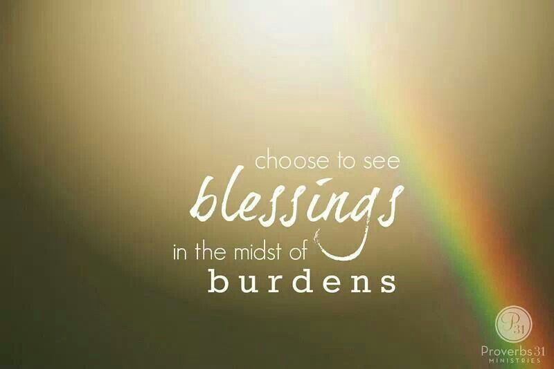 {choose to see blessings}