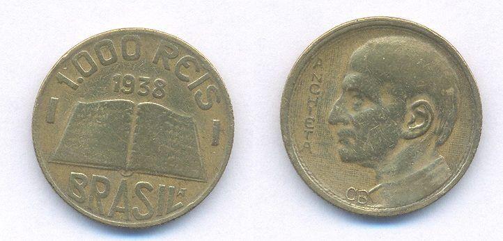 1000 Reis 1938 Moedas