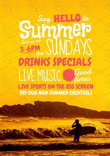 Pin By Easil On Food Drink Diy Templates Diy Graphic Design Sunday Sessions Diy Graphic Design Drink Specials