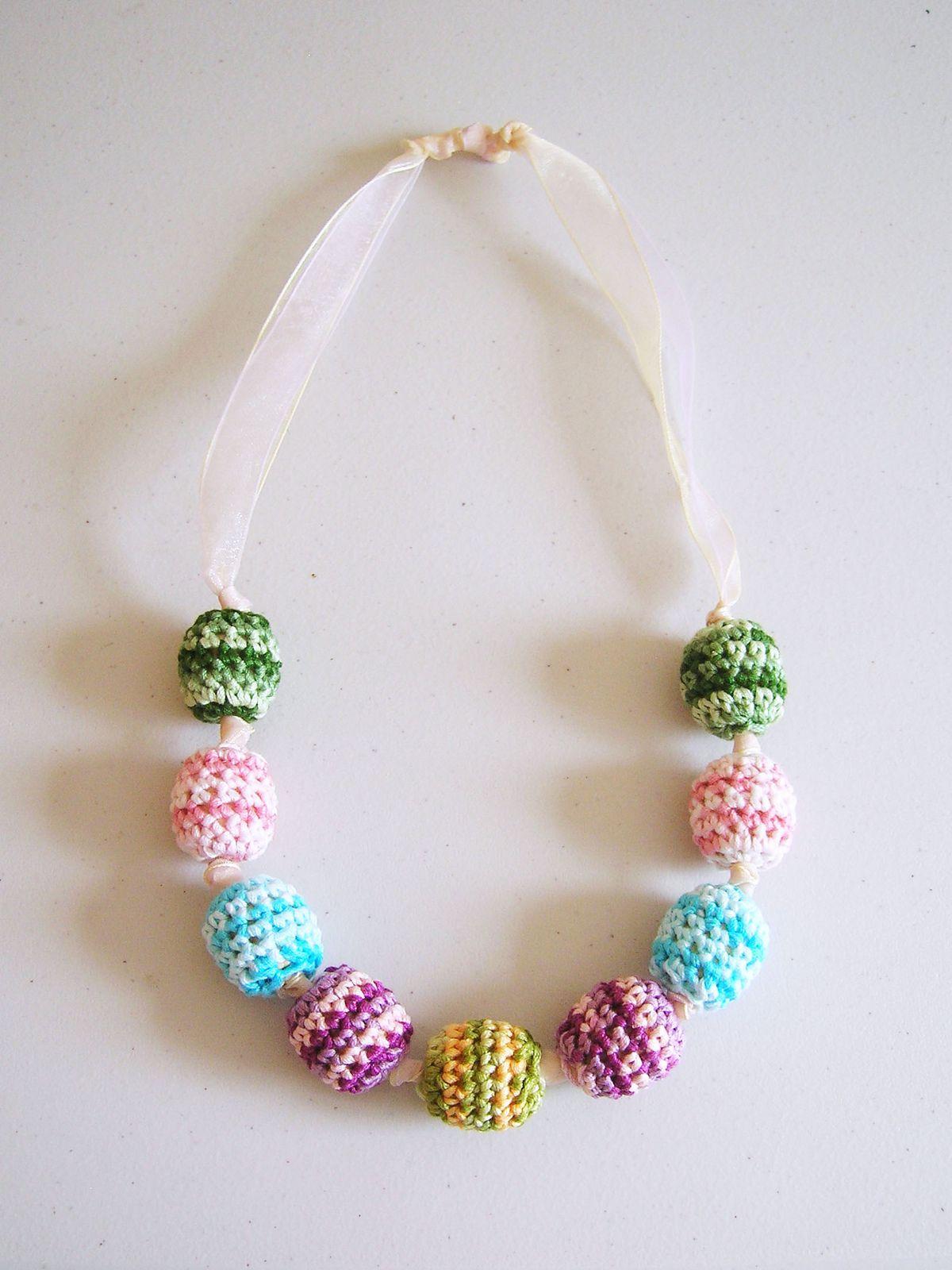 Crochet Beads Necklace By ChabeGS - Free Crochet Pattern ...