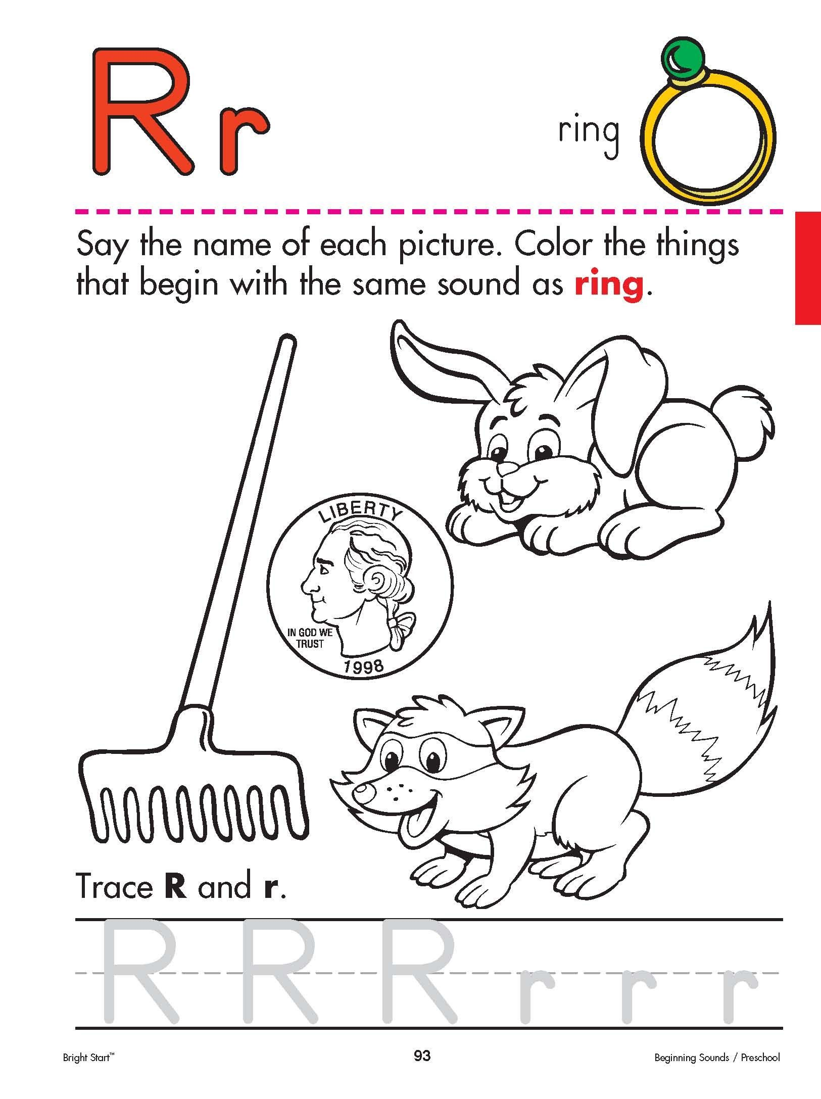 Image Detail For The Letter R Preschool Worksheet