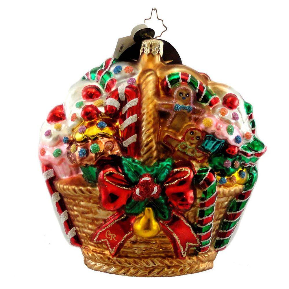 Christopher Radko Sugar Coated Cargo Glass Ornament Gingerbread Pastry Sweet Christopher Radko Ornaments Ornaments Glass Ornaments