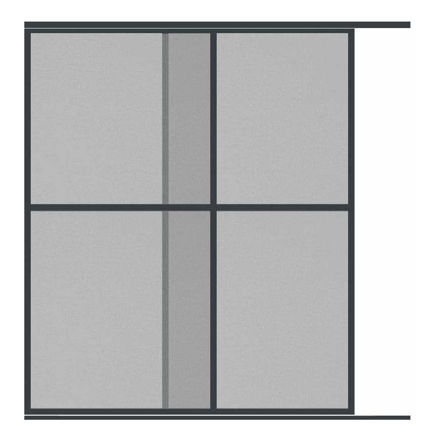 Moustiquaire Coulissante Baie vitr/ée XXL 2 Panneaux Alu L240 x H240 cm Gris