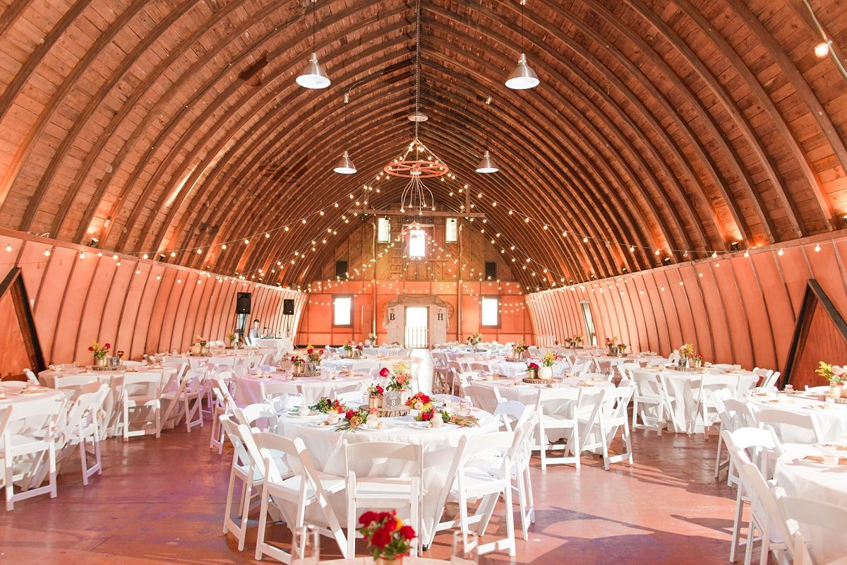 Ceremony Turned Into Reception. Large High Ceiling Barn