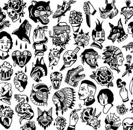 , INSIPRAÇÃO FLASH TATTO OLD SCHOOL, My Tattoo Blog 2020, My Tattoo Blog 2020