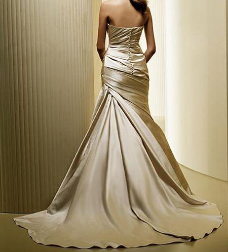 Vintage Gold Wedding Dress Belle Inspired Bateau Dropped For Rent