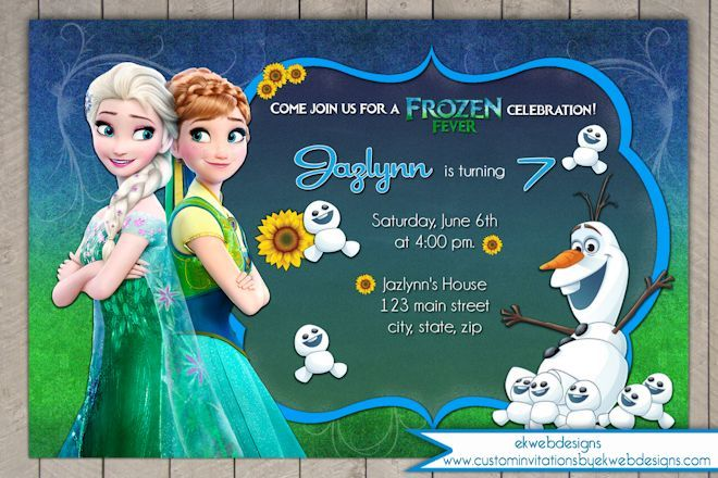 Free Disney Frozen Birthday Invitations ~ Frozen fever birthday invitation disneys frozen fever birthday
