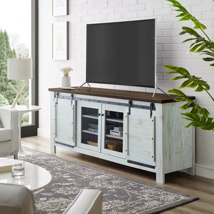 Kegley Tv Stand For Tvs Up To 85 White Sideboard Sideboard Sliding Doors Sliding Doors