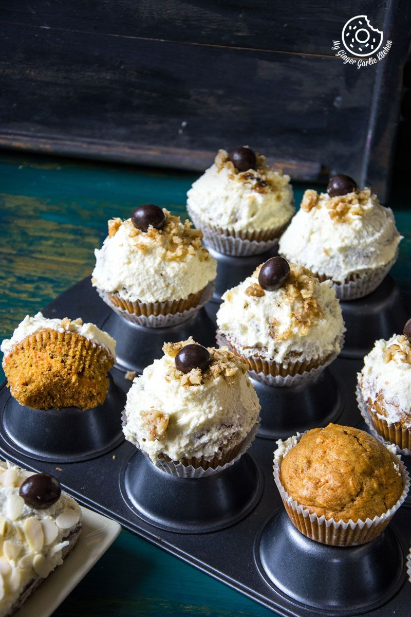 Best carrot cake cupcakes with lemon ricotta frosting