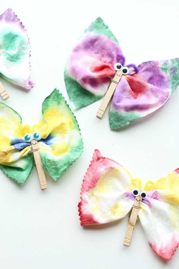 Tie Dye Baby Wipes Butterflies For When I Have Kids Crafts